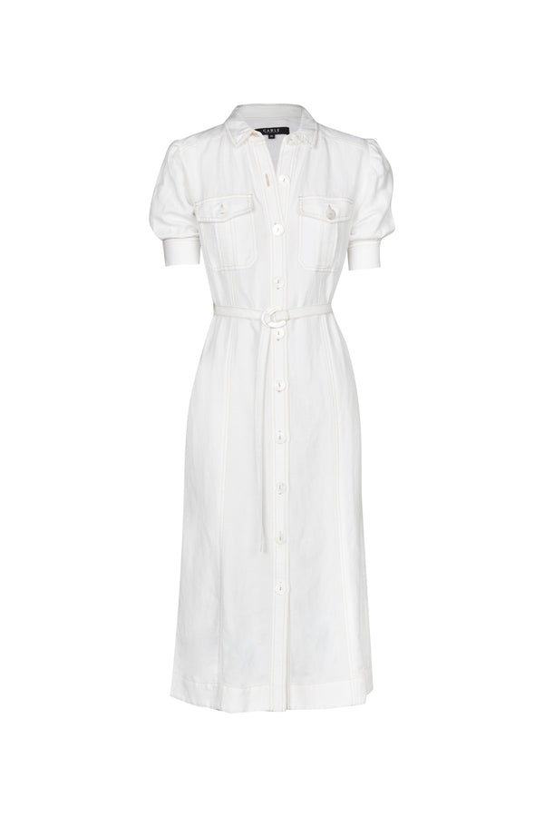 Zuri Linen Dress White