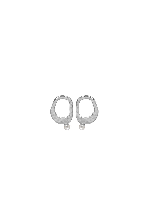 Murkani Pearl Earrings Silver