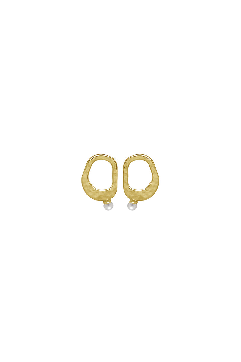 Murkani Pearl Earrings Gold