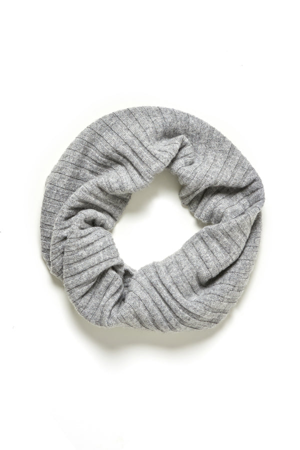 Pure Cashmere Snood Grey Marle Crop