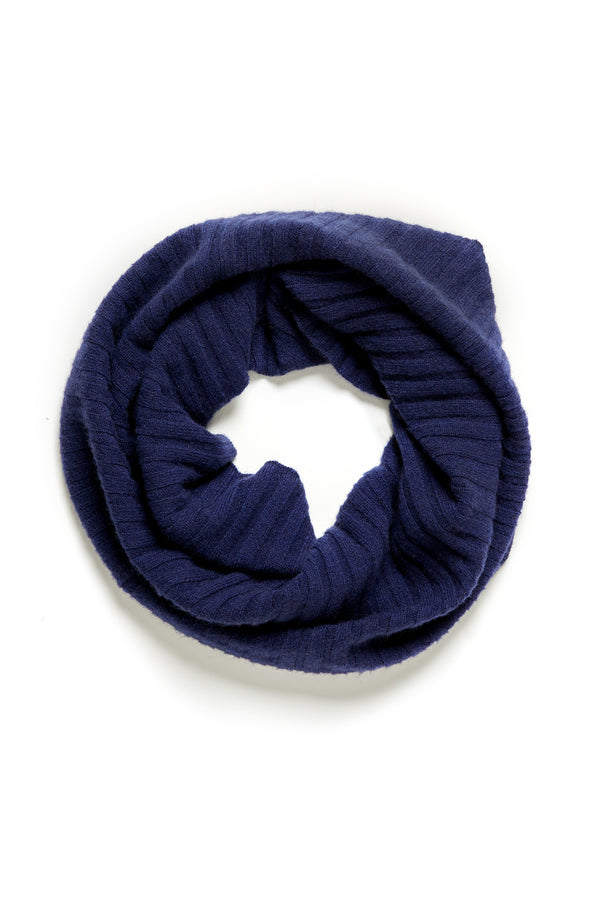 Pure Cashmere Snood Navy Crop