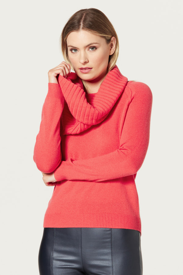Pure Cashmere Snood Tangelo Front