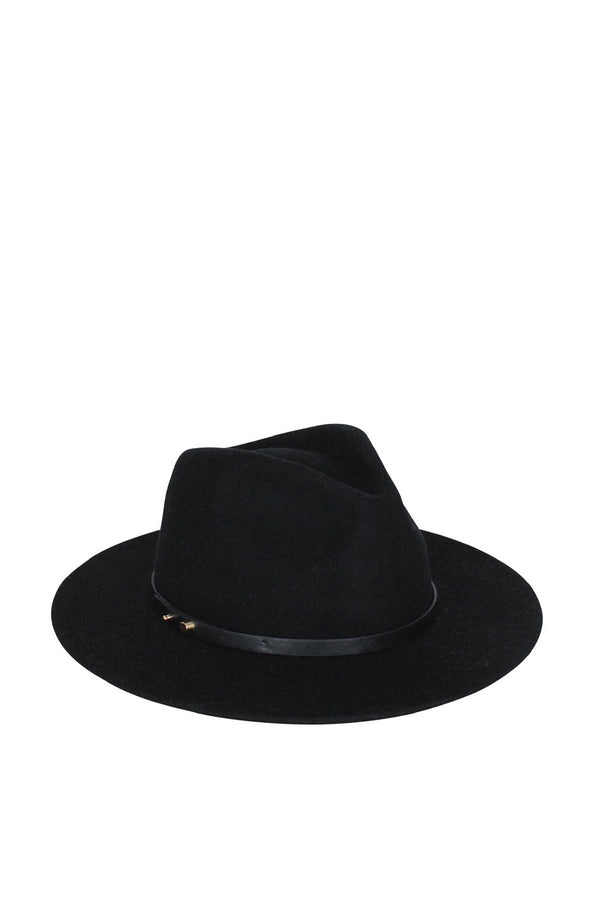 Oslo Fedora Hat Black Crop