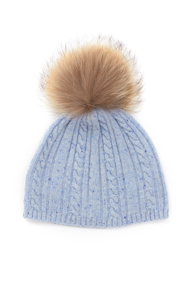 Cashmere Beanie Chambray