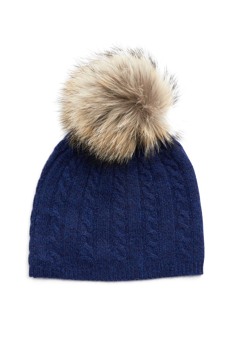 Cashmere Beanie French Navy