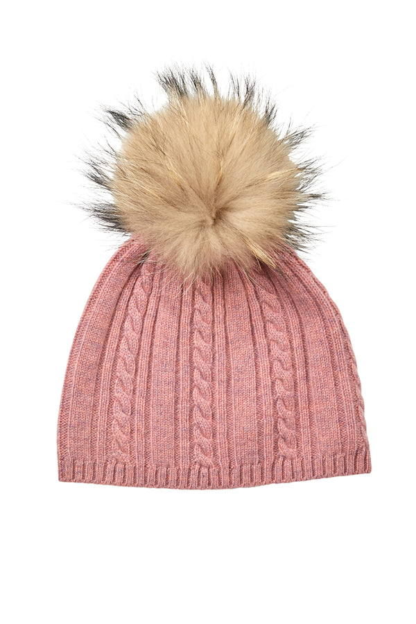 Cashmere Beanie Musk Marle