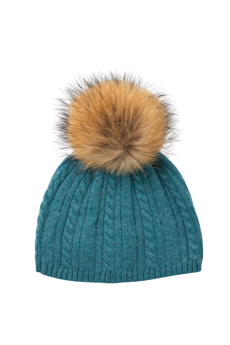 Cashmere Beanie Sea Green