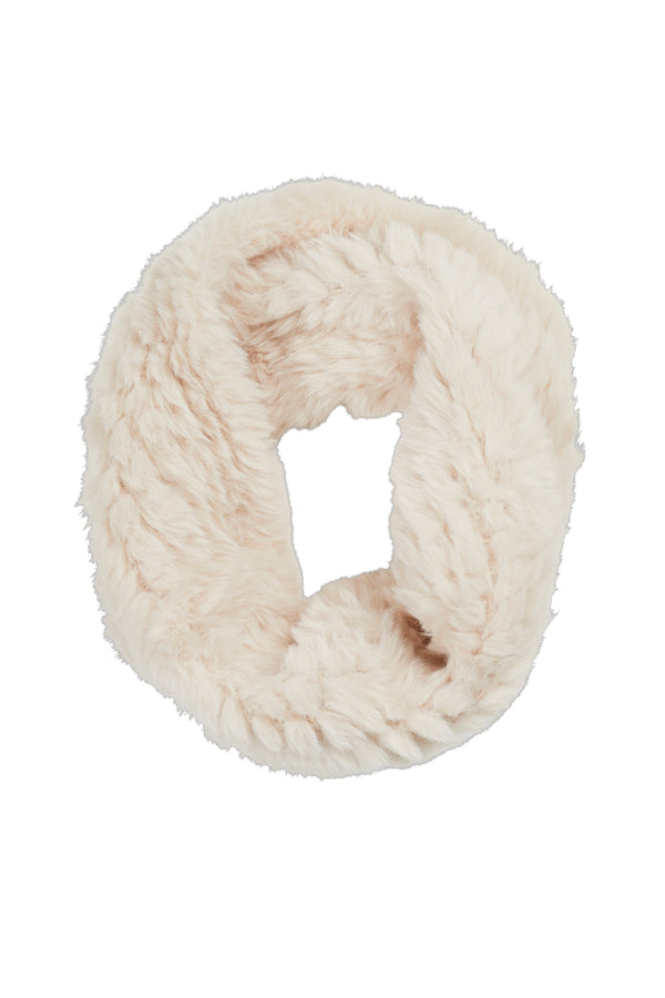 Trimmed Fur Snood Pearl