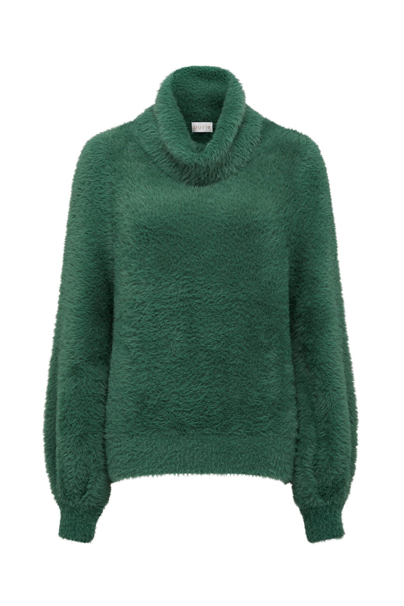 Elwood Cowl Jumper Basil Green Crop