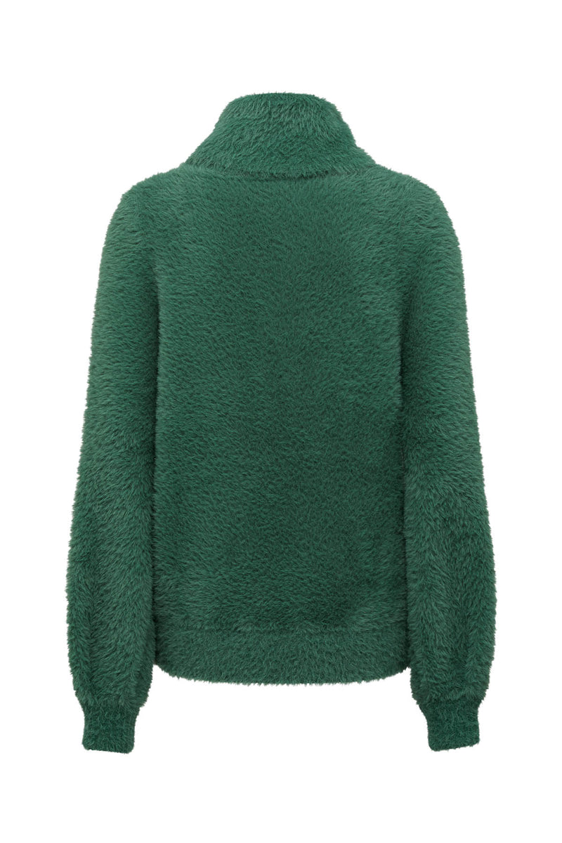 Elwood Cowl Jumper Basil Green Back