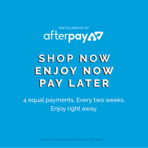 Afterpay interest free fortnightly instalments from Mister Mann