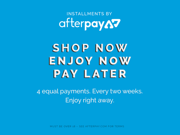 Afterpay available from Mister Mann