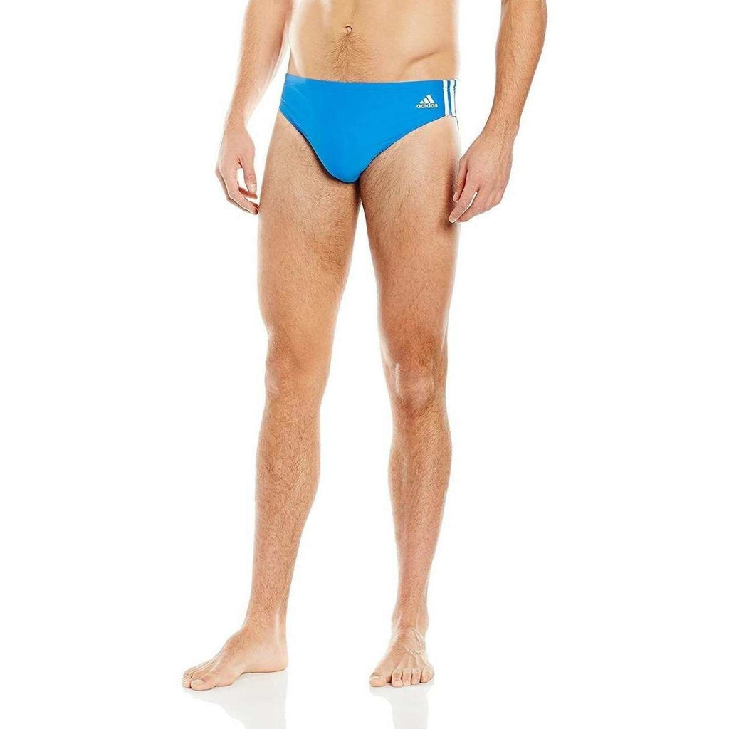Adidas Swim Brief 3-Stripes Blue/White - Mister Mann Menswear Premium Men's Sportswear Swimwear