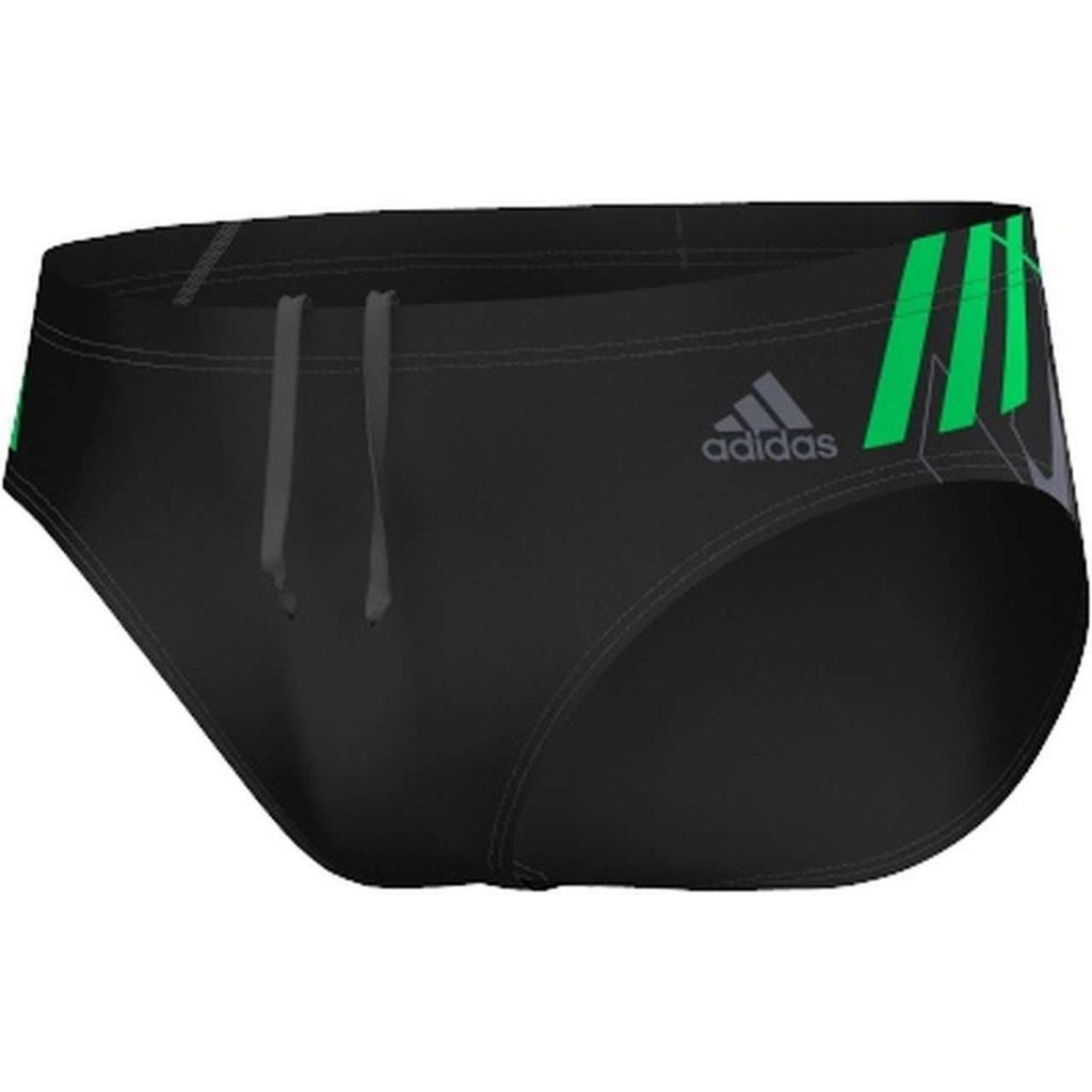 Adidas Infinitex Tech Swim Brief Black / Solar Lime - Mister Mann Menswear Premium Men's Sportswear Swimwear