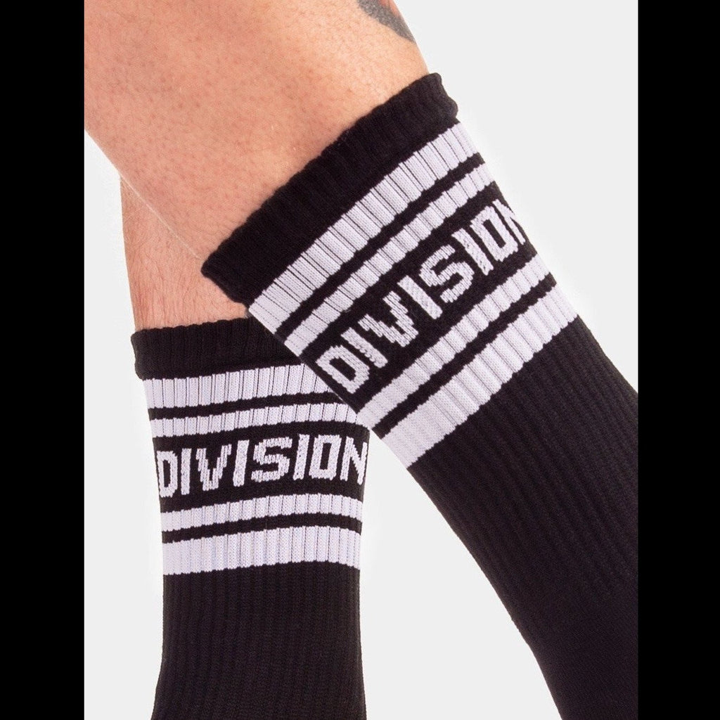 Division Fashion Socks - Black White, Barcode Berlin