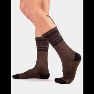 Army Fashion Socks - Green Black