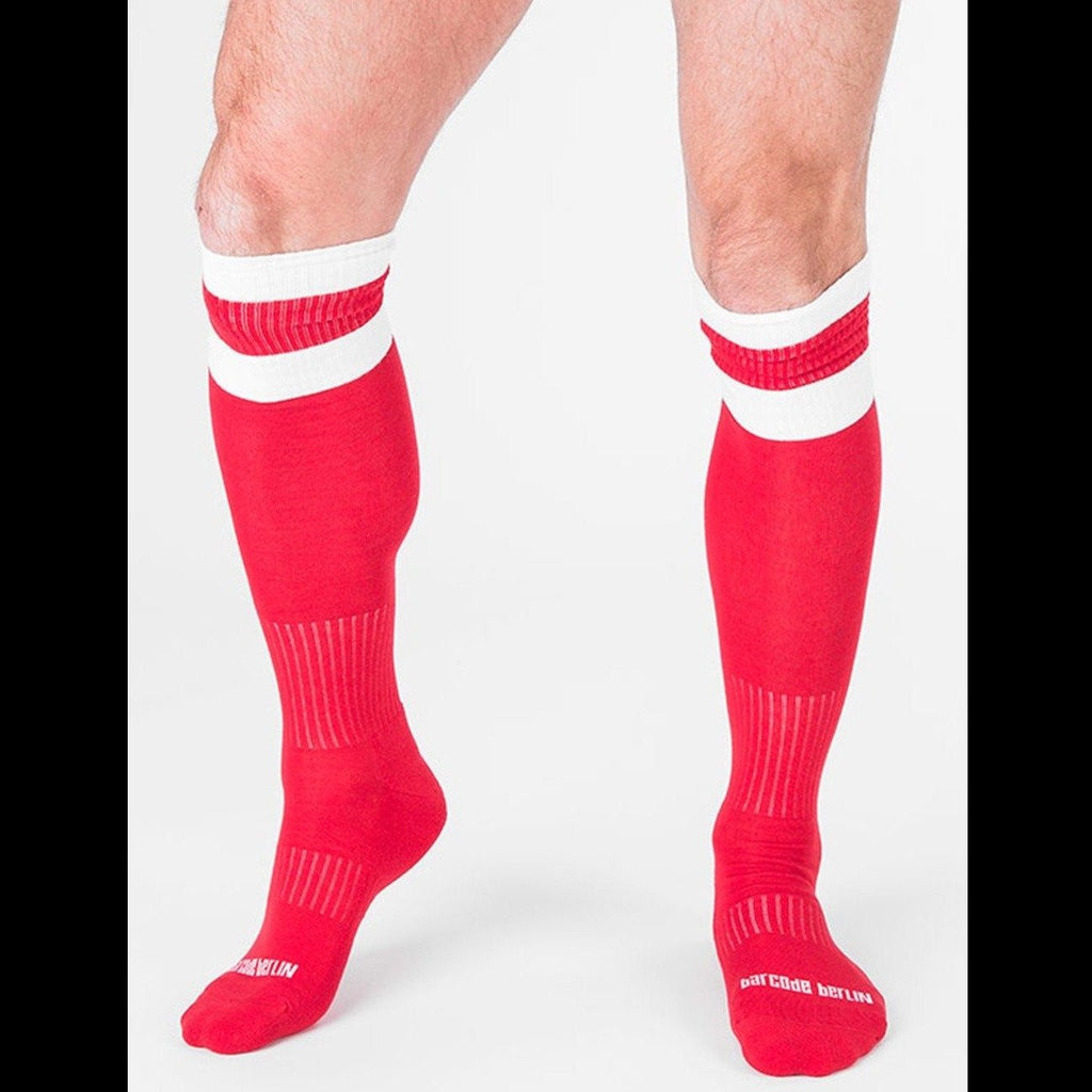 Football Socks - Red White
