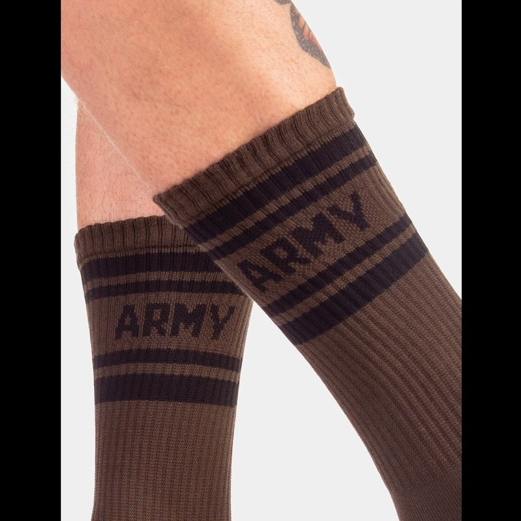 Army Fashion Socks - Green Black, Barcode Berlin