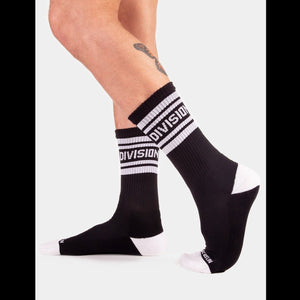 Division Fashion Socks - Black White