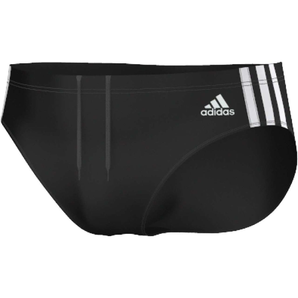 Adidas Swim Brief 3-Stripes Black/ White - Mister Mann Menswear Premium Men's Sportswear Swimwear