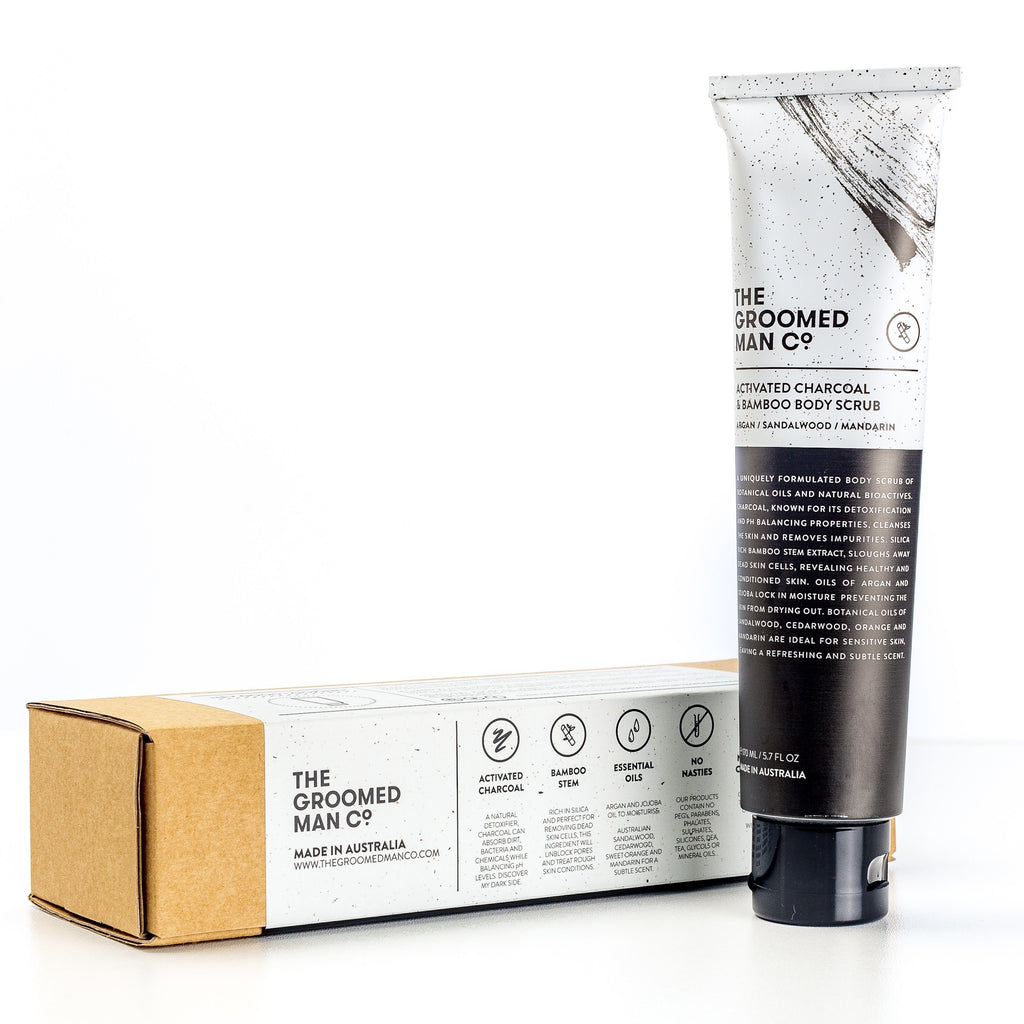 Activated Charcoal & Bamboo Body Scub, The Groomed Man Co.