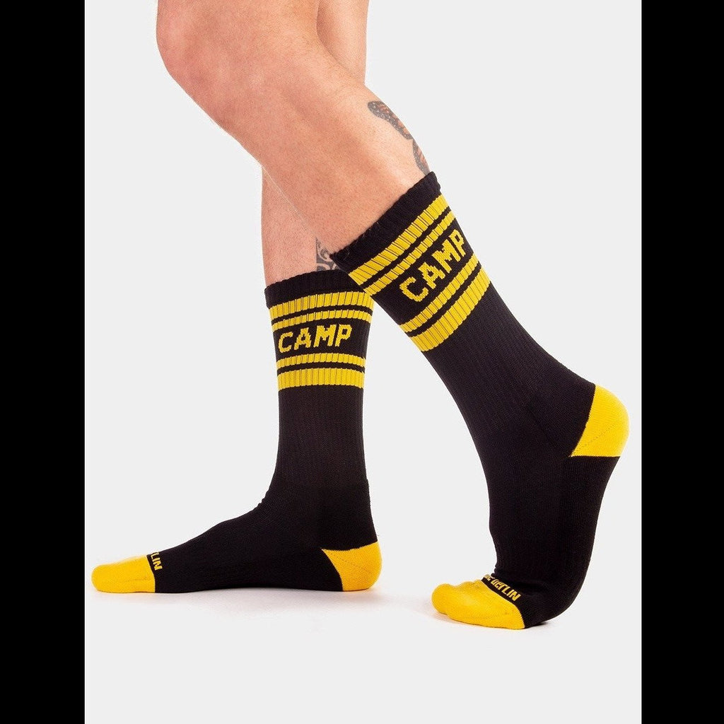 Camp Fashion Socks - Black Yellow, Barcode Berlin