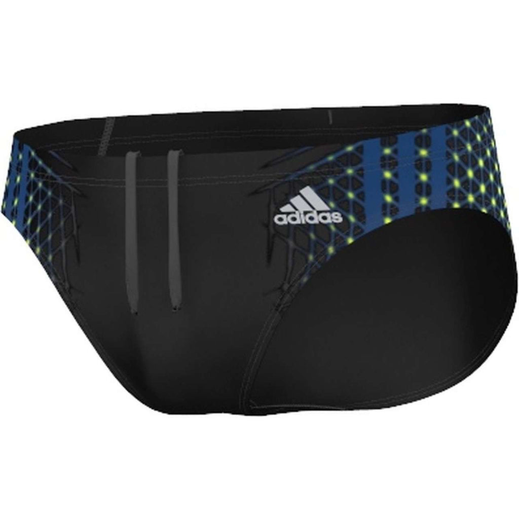 Adidas Adiclub Swim Brief Black/Yellow/ Blue - Mister Mann Menswear Premium Men's Sportswear Swimwear