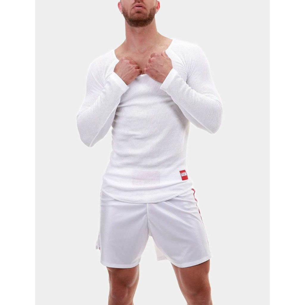 Dmitry Thermo V Neck - White, Barcode Berlin