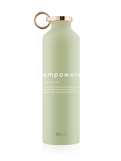 Empowered green stainless steel bottle classy thermo