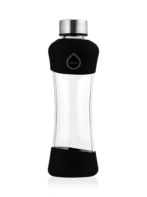Active Black Glass Bottle