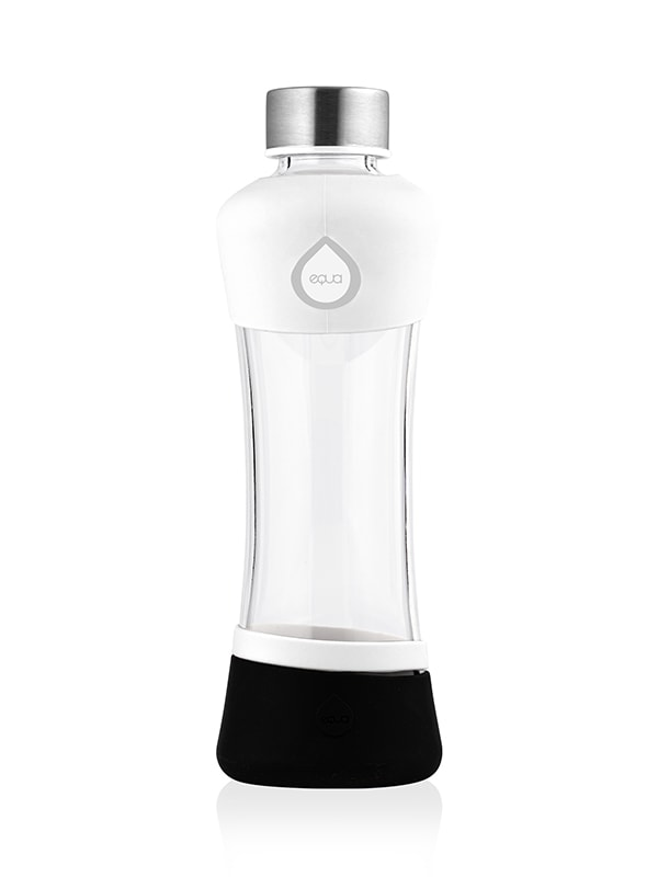 Active White Glass Bottle