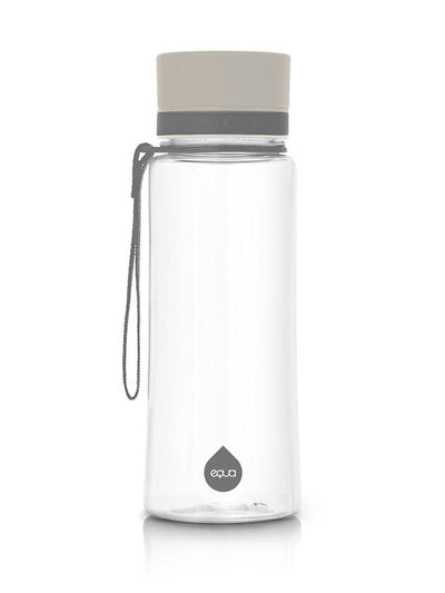 EQUA BPA FREE water bottle, Plain Grey, minimalistic design, no motif, grey color