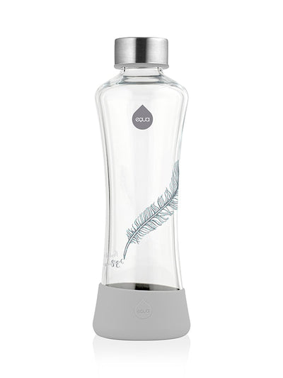 Feather Glass Bottle