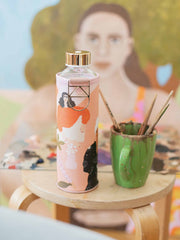 Alja Horvat × EQUA water bottle in her studio