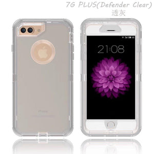 Apple iPhone 7|8 Defender Clear Case | Shockproof Hard Case + Belt Clip - Xcell Mobile