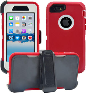 Apple iPhone 7|8 Plus Defender Case | Shockproof Hard Case + Belt Clip - Xcell Mobile