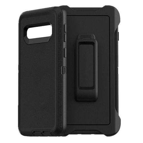 Samsung Galaxy S10 | Defender Case | Shockproof Hard Case + Belt Clip - Xcell Mobile
