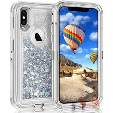 Load image into Gallery viewer, Apple iPhone XS Max | Defender Liquid Glitter Case | Shockproof Hard Case + Belt Clip - Xcell Mobile