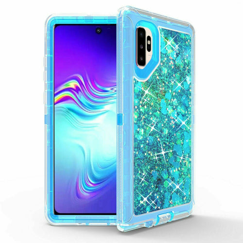 Samsung Galaxy Note 10+ | Defender Liquid Glitter Case | Shockproof Hard Case + Belt Clip - Xcell Mobile