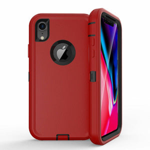 Apple iPhone X | Defender Case | Shockproof Hard Case + Belt Clip - Xcell Mobile