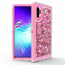 Load image into Gallery viewer, Samsung Galaxy Note 10 | Defender Liquid Glitter Case | Shockproof Hard Case + Belt Clip - Xcell Mobile