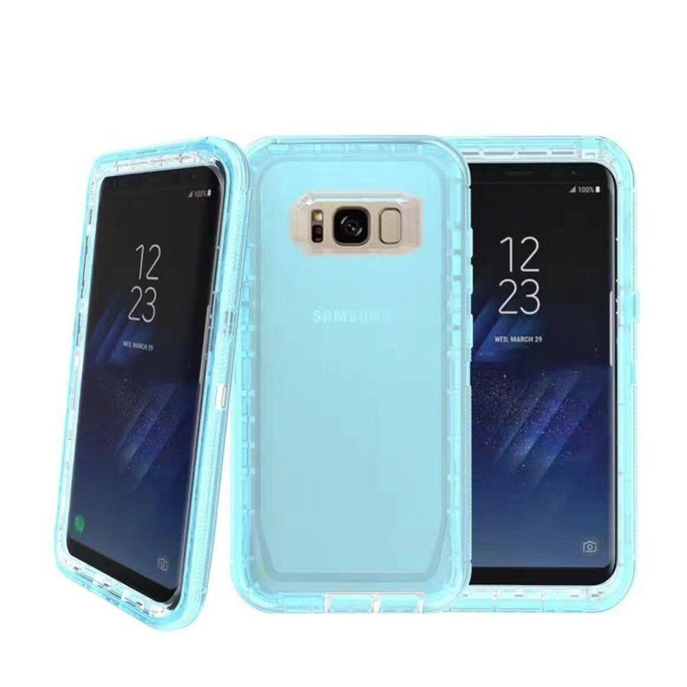 Samsung Galaxy Note 8 | Defender Clear Case | Shockproof Hard Case + Belt Clip - Xcell Mobile
