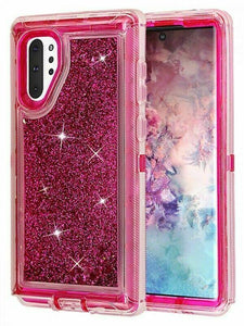 Samsung Galaxy Note 10 | Defender Liquid Glitter Case | Shockproof Hard Case + Belt Clip - Xcell Mobile