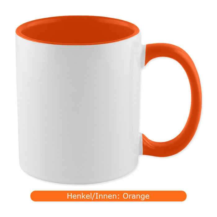 zweifarbige Tasse, orange