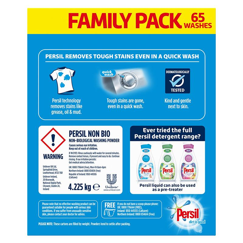 Persil Non Bio Washing Powder 65 washes 4.225kg