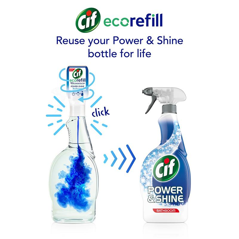 Cif Power & Shine Bathroom Ecorefill 70ml