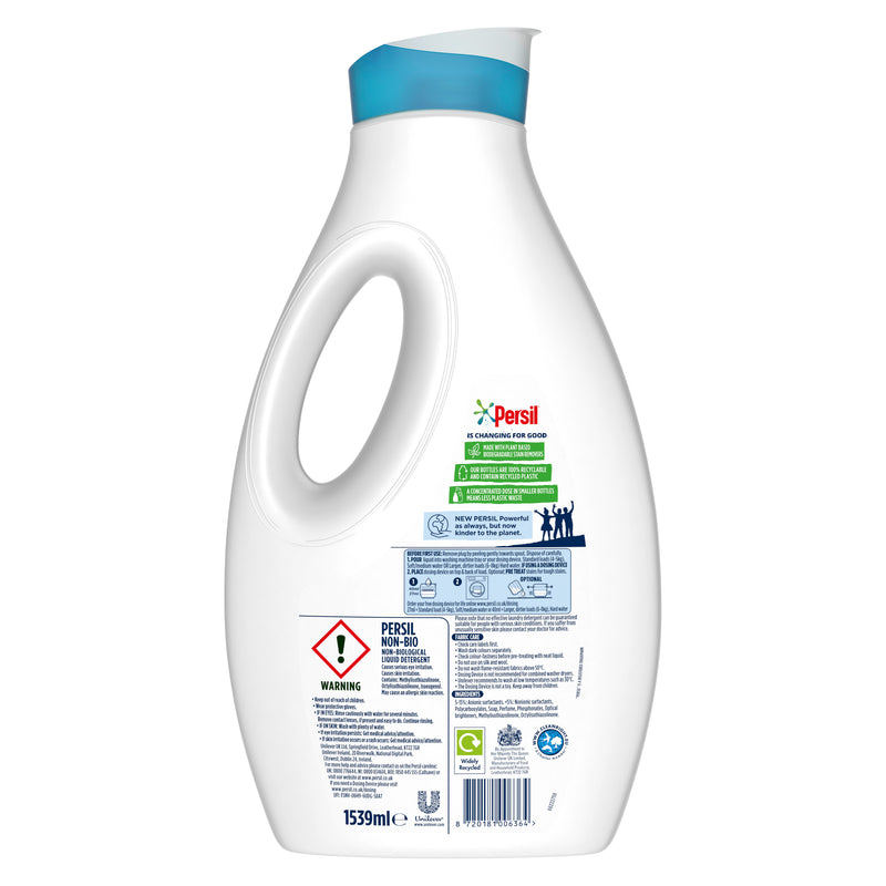 Persil Non Bio Laundry Washing Liquid Detergent 57 Wash 1.539L, Multi-Buy