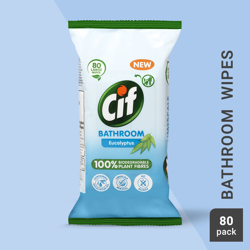 Cif Eucalyptus Bathroom Wipes 80pc