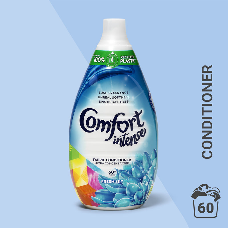 Comfort Intense Fresh Sky Fabric Conditioner 60 Wash 900 ml