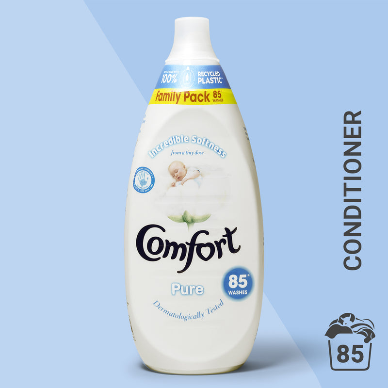 Comfort Intense Pure Laundry Conditioner Liquid 85 Wash 1.275L